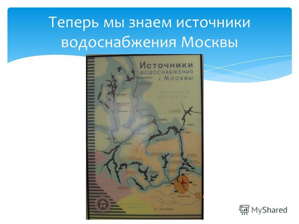 Теперь мы знаем источники водоснабжения Москвы
