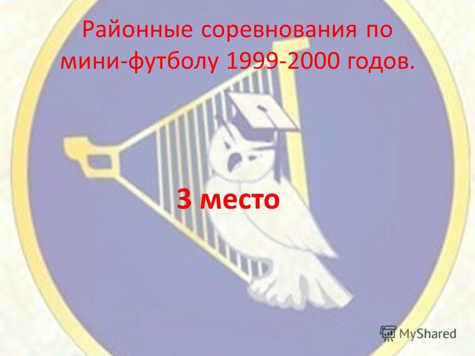 Районные соревнования по мини-футболу 1999-2000 годов. 3 место