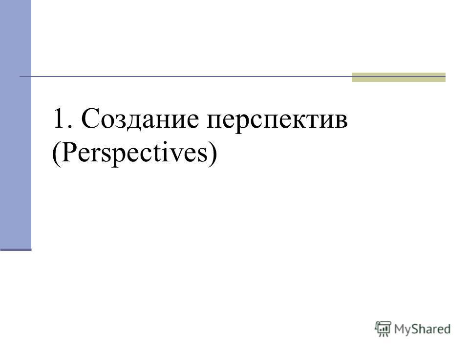 1. Создание перспектив (Perspectives)