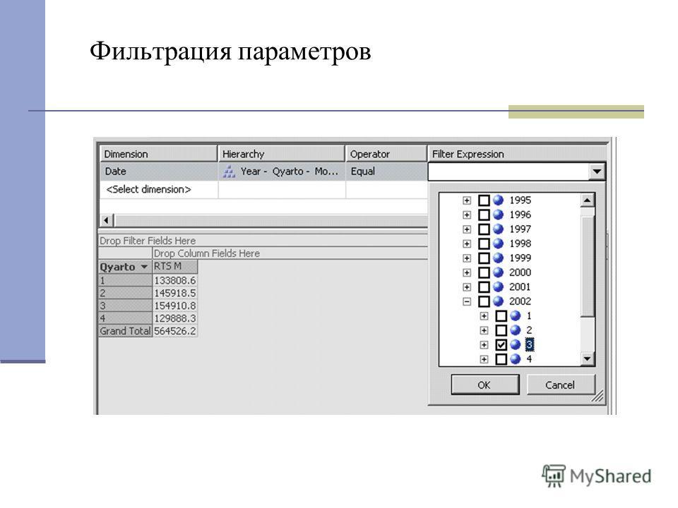 Фильтрация параметров