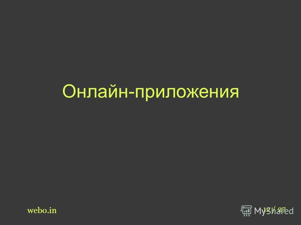 Онлайн-приложения webo.in 12 / 27