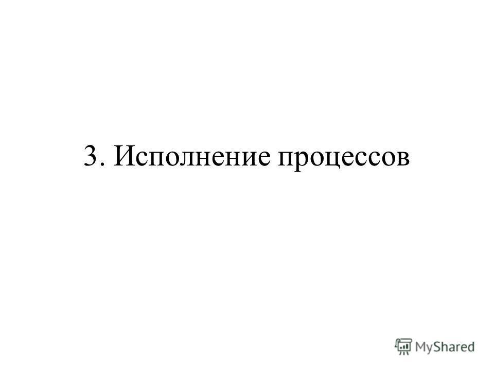 3. Исполнение процессов