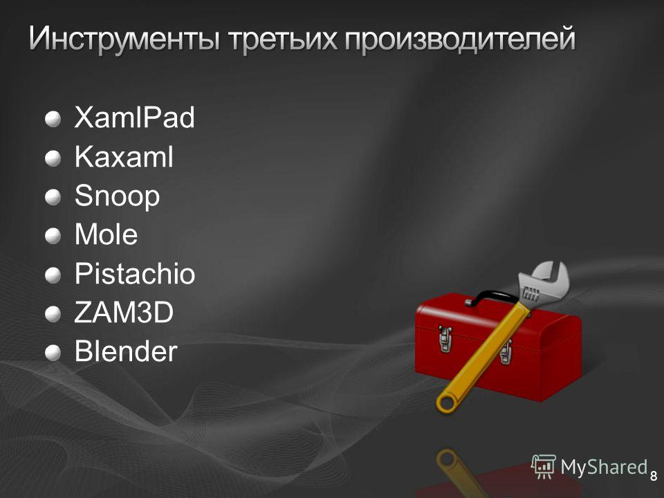 8 XamlPad Kaxaml Snoop Mole Pistachio ZAM3D Blender