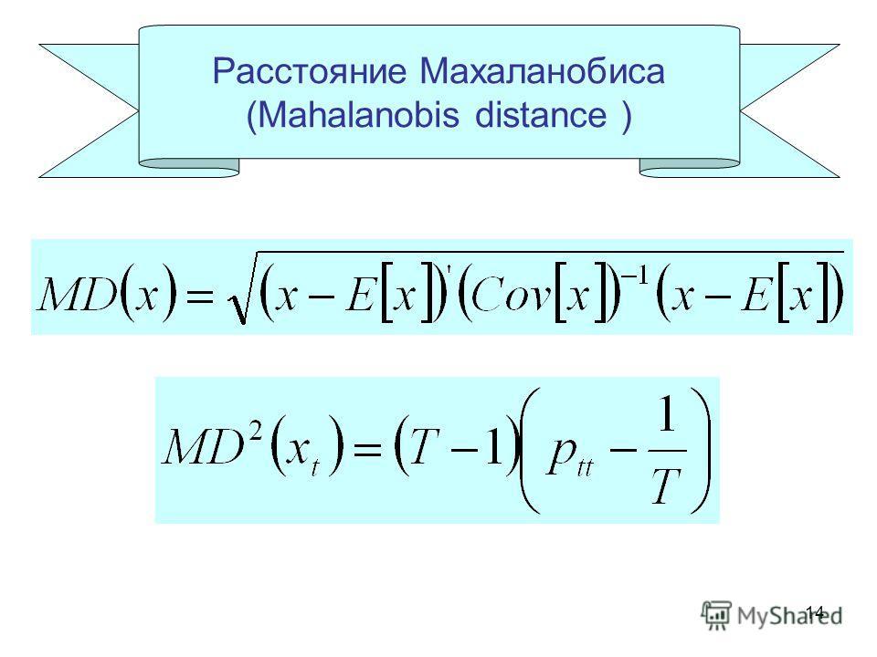 14 Расстояние Махаланобиса (Mahalanobis distance )