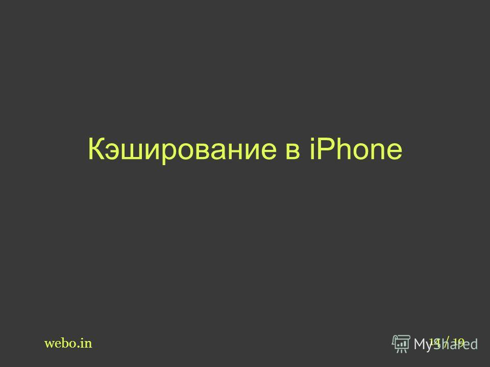 Кэширование в iPhone webo.in 14 / 19