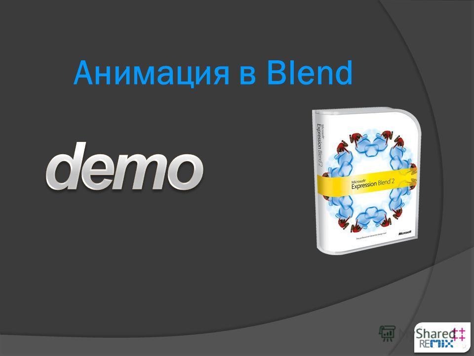 Анимация в Blend
