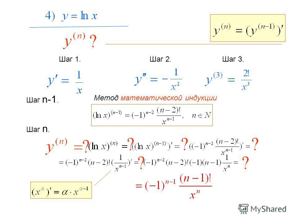 Шаг 1. Шаг 2.Шаг 3. Шаг n-1. Метод математической индукции Шаг n.
