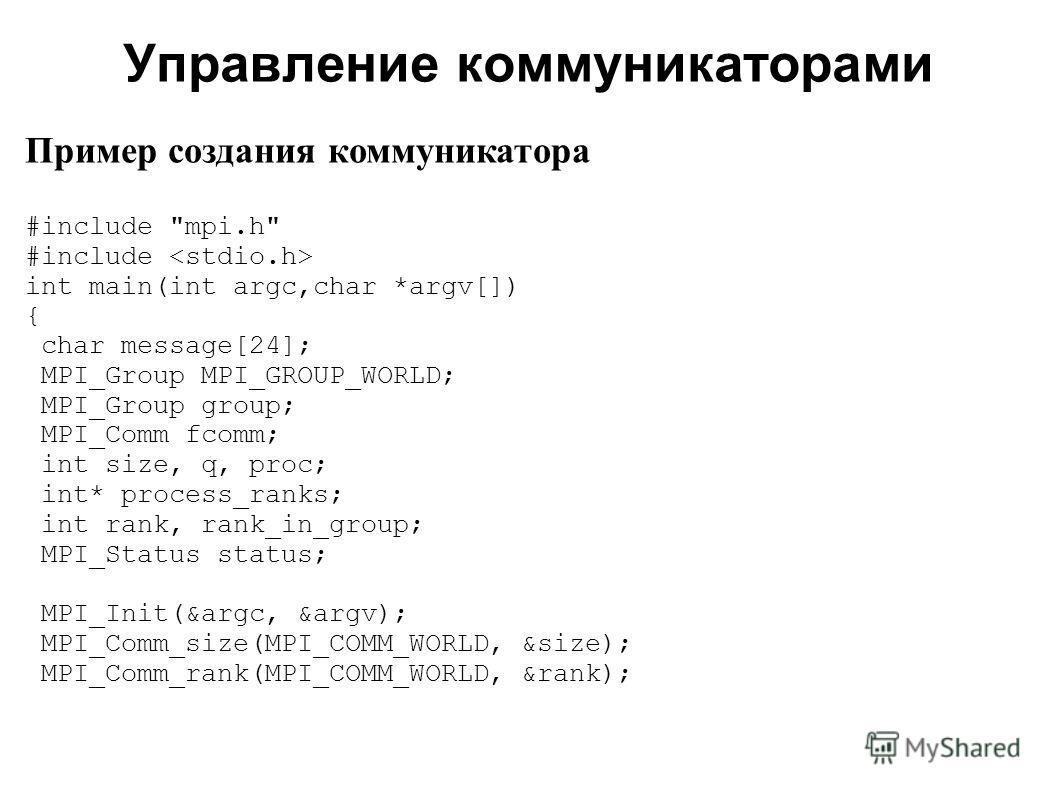 2008 Пример создания коммуникатора #include