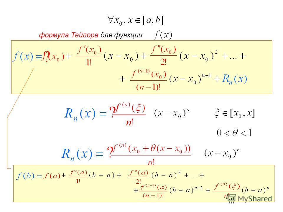 формула Тейлора для функции