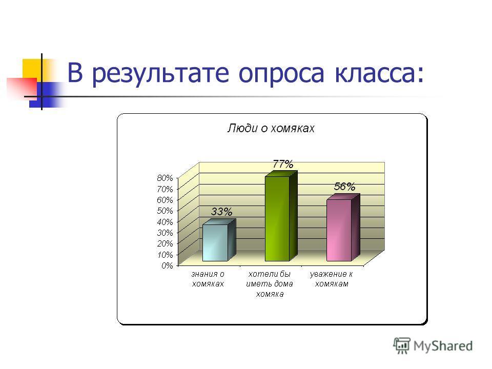 В результате опроса класса: