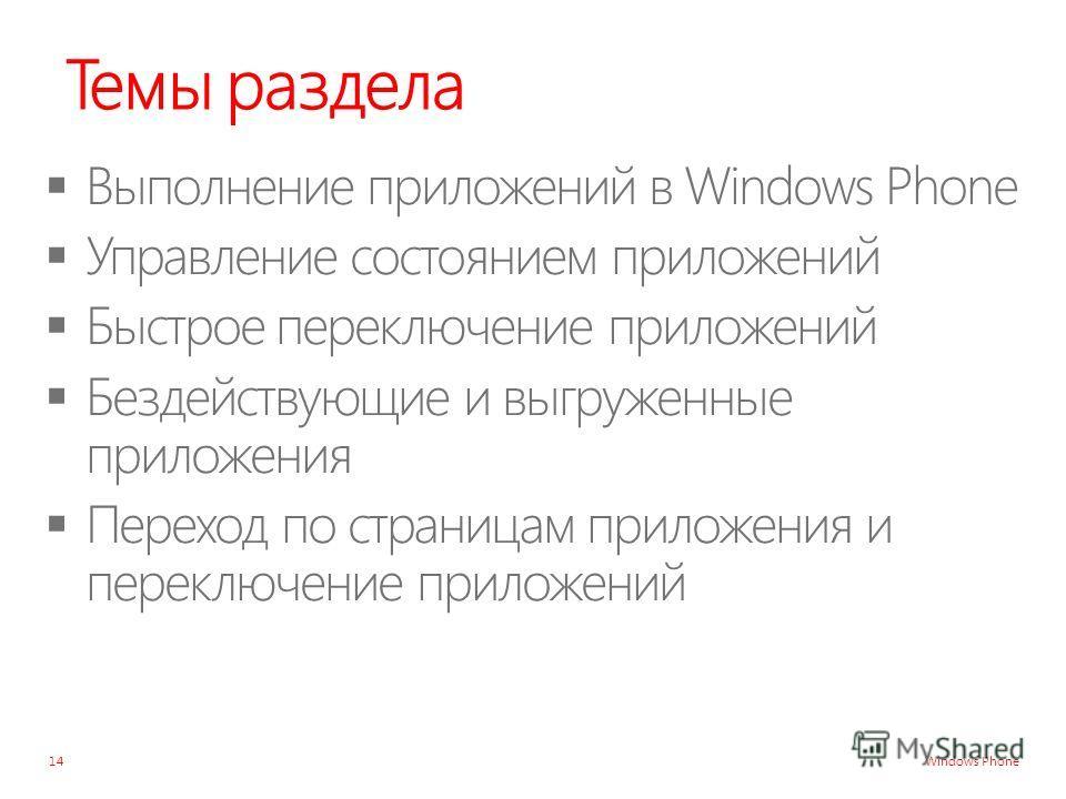 Windows Phone Темы раздела 14