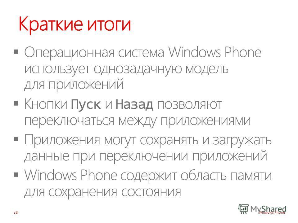 Windows Phone Краткие итоги 38