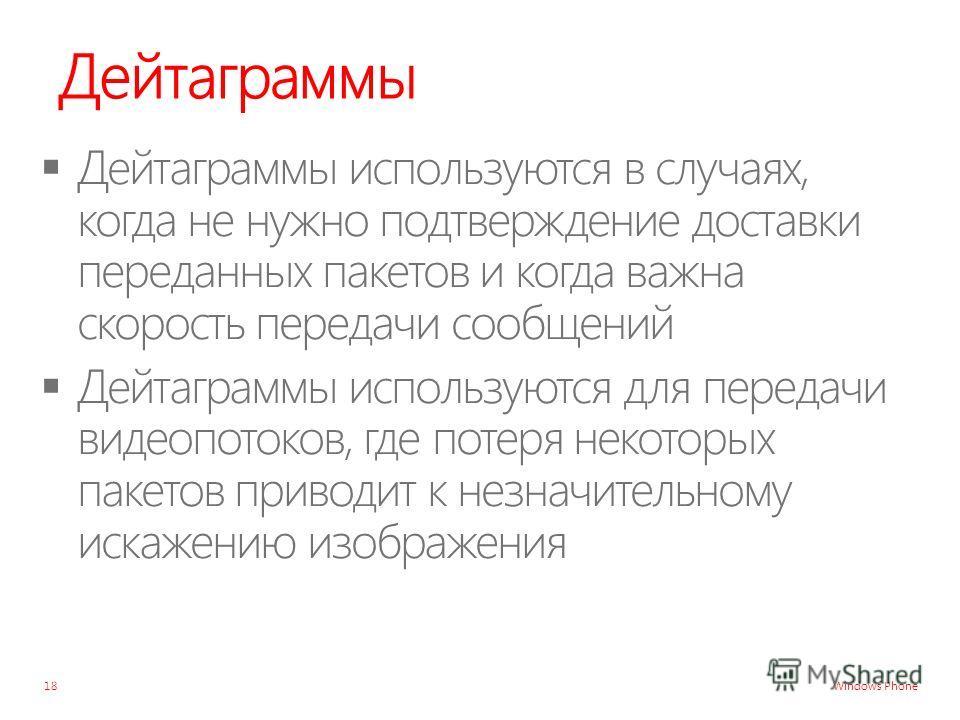 Windows Phone Дейтаграммы 18