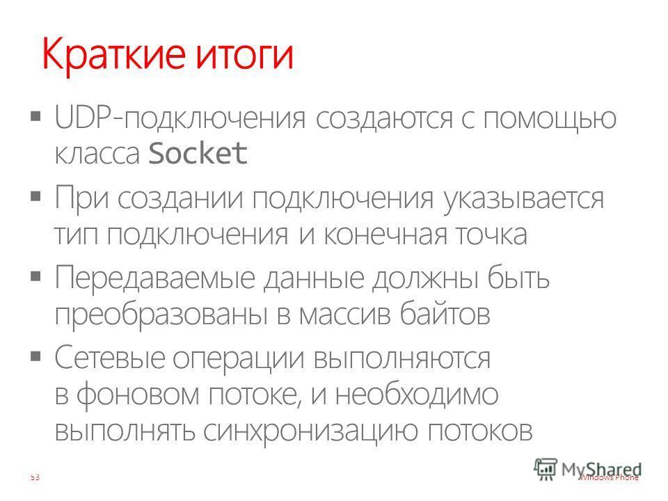 Windows Phone Краткие итоги 53