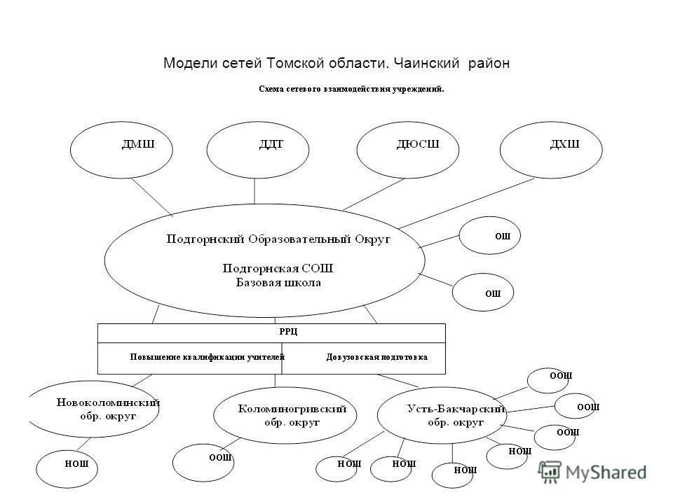 Модели сетей Томской области. Чаинский район