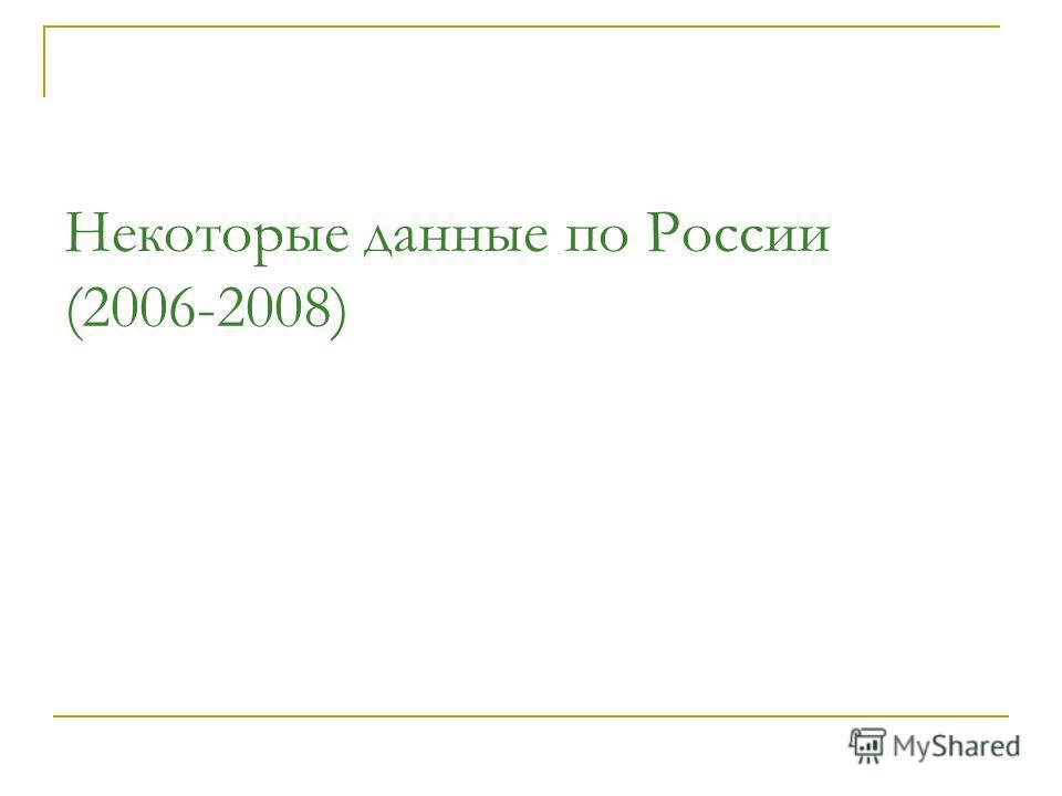 Некоторые данные по России (2006-2008)