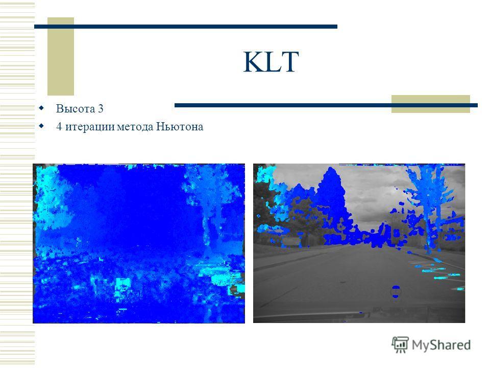 KLT Высота 3 4 итерации метода Ньютона