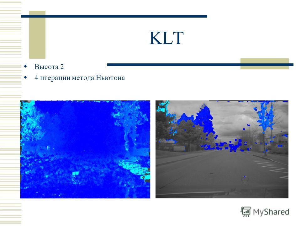KLT Высота 2 4 итерации метода Ньютона