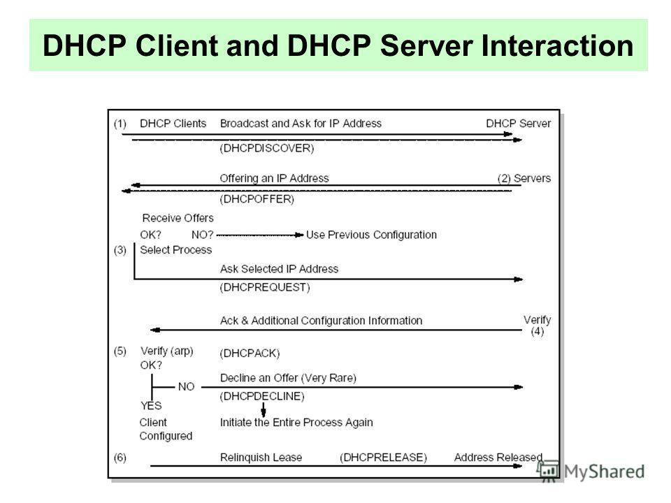DHCP Client and DHCP Server Interaction