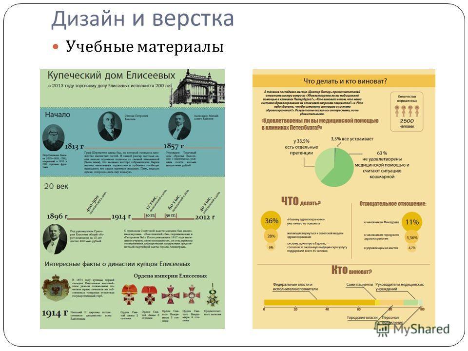 Дизайн и верстка Учебные материалы