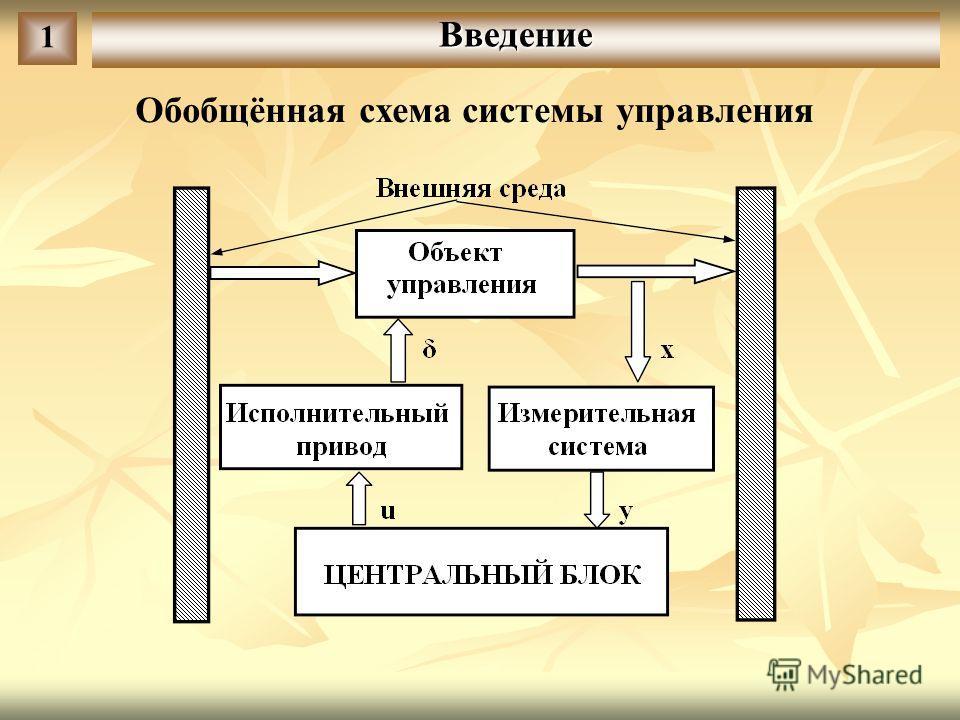 Введение 1 Обобщённая схема системы управления