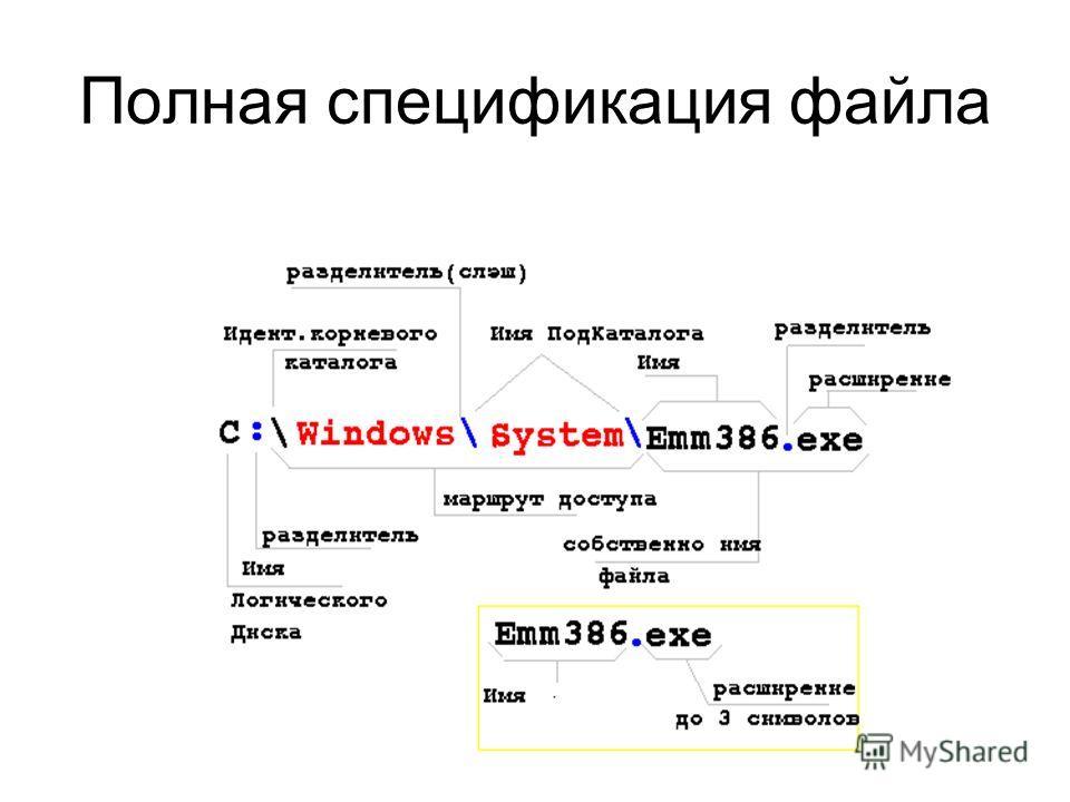 Полная спецификация файла