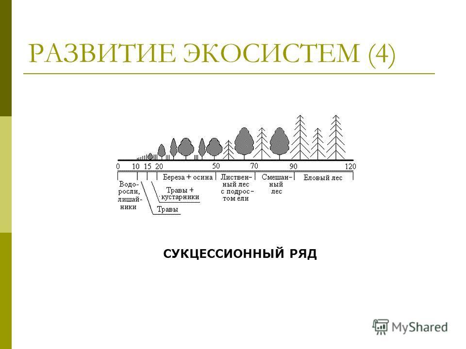РАЗВИТИЕ ЭКОСИСТЕМ (4) СУКЦЕССИОННЫЙ РЯД