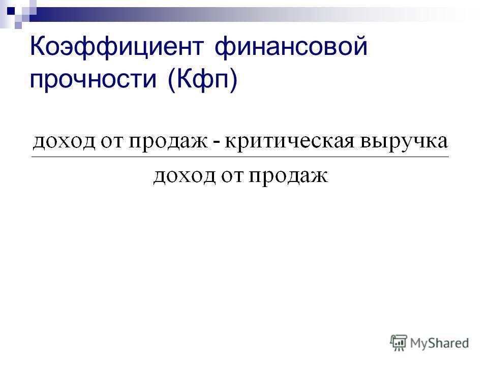Коэффициент финансовой прочности (Кфп)