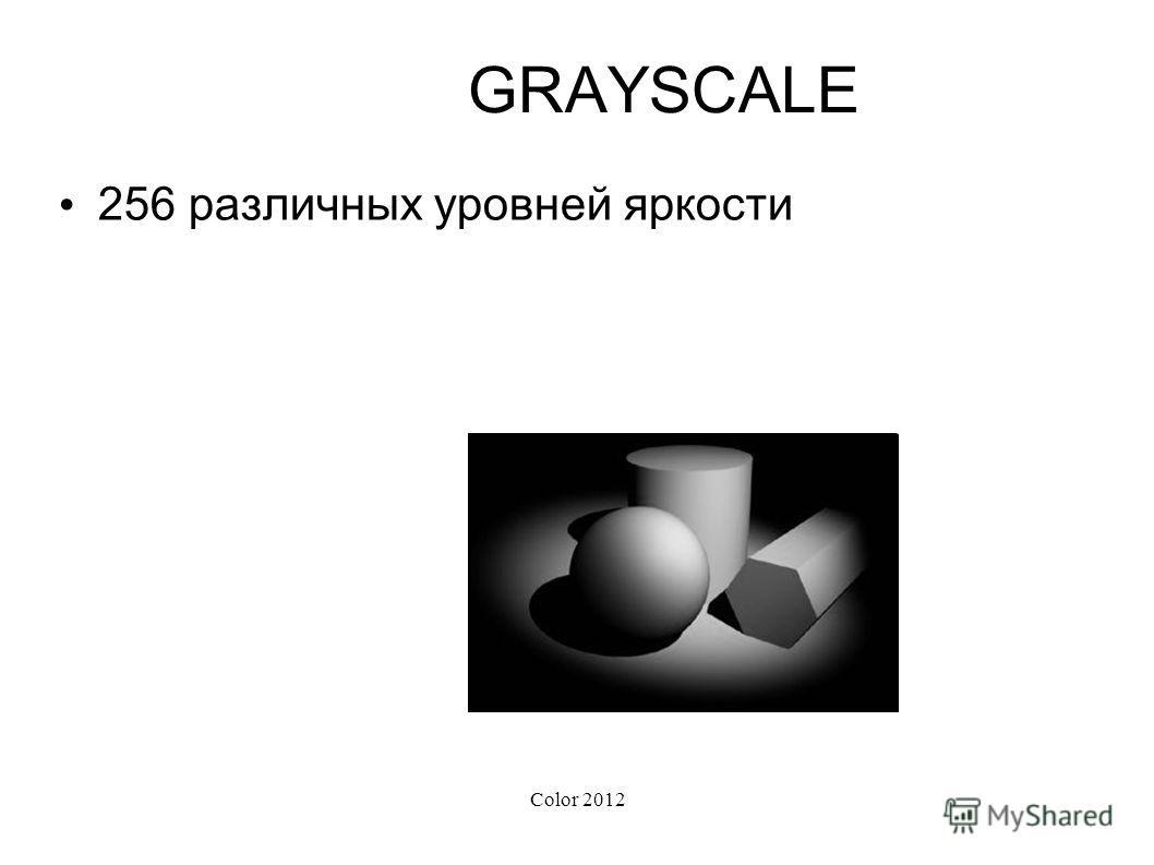 Color 2012 GRAYSCALE 256 различных уровней яркости