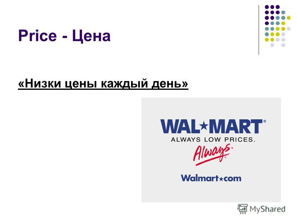 Price - Цена «Низки цены каждый день»