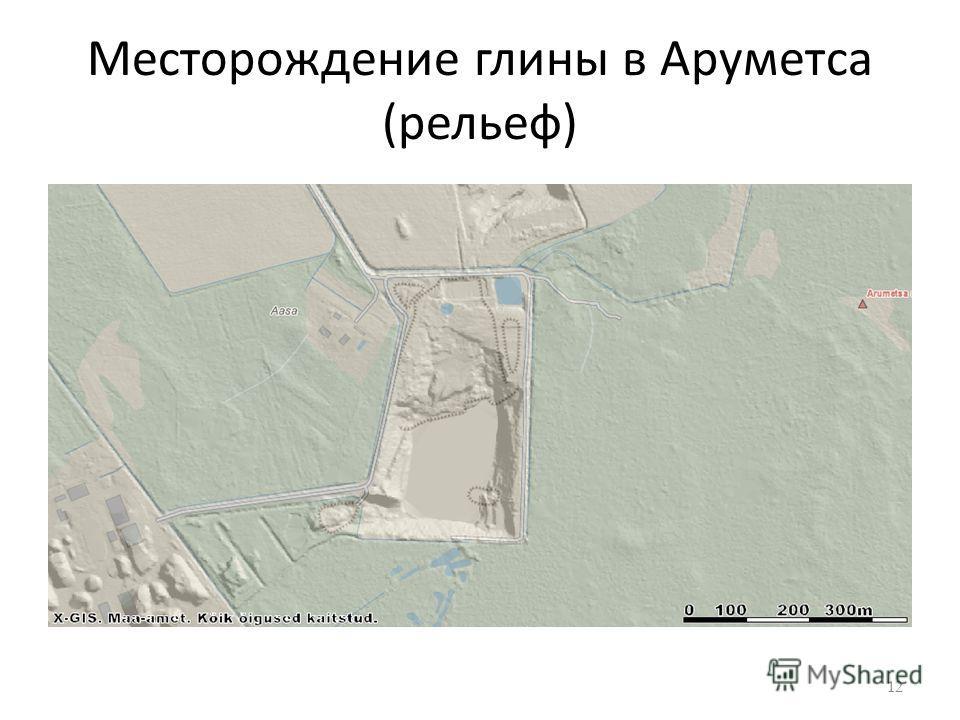 Месторождение глины в Аруметса (рельеф) 12