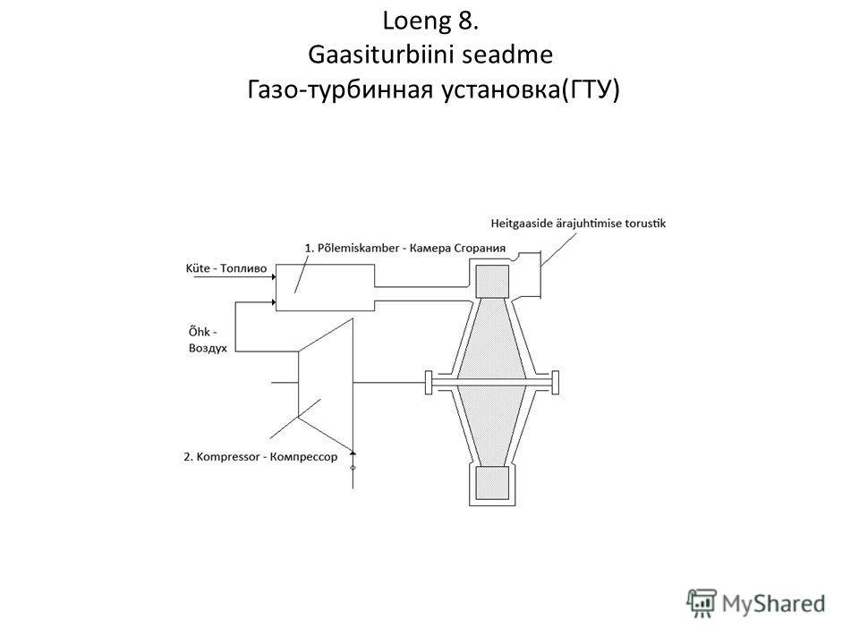 Loeng 8. Gaasiturbiini seadme Газо-турбинная установка(ГТУ)