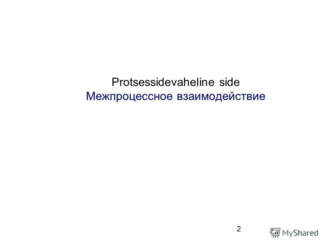 2 Protsessidevaheline side Межпроцессное взаимодействие
