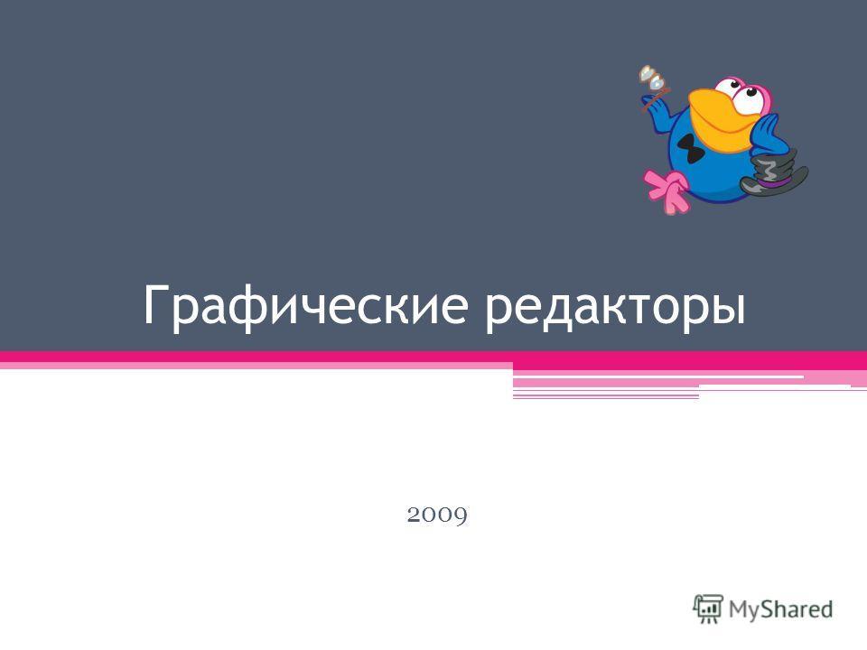 Графические редакторы 2009