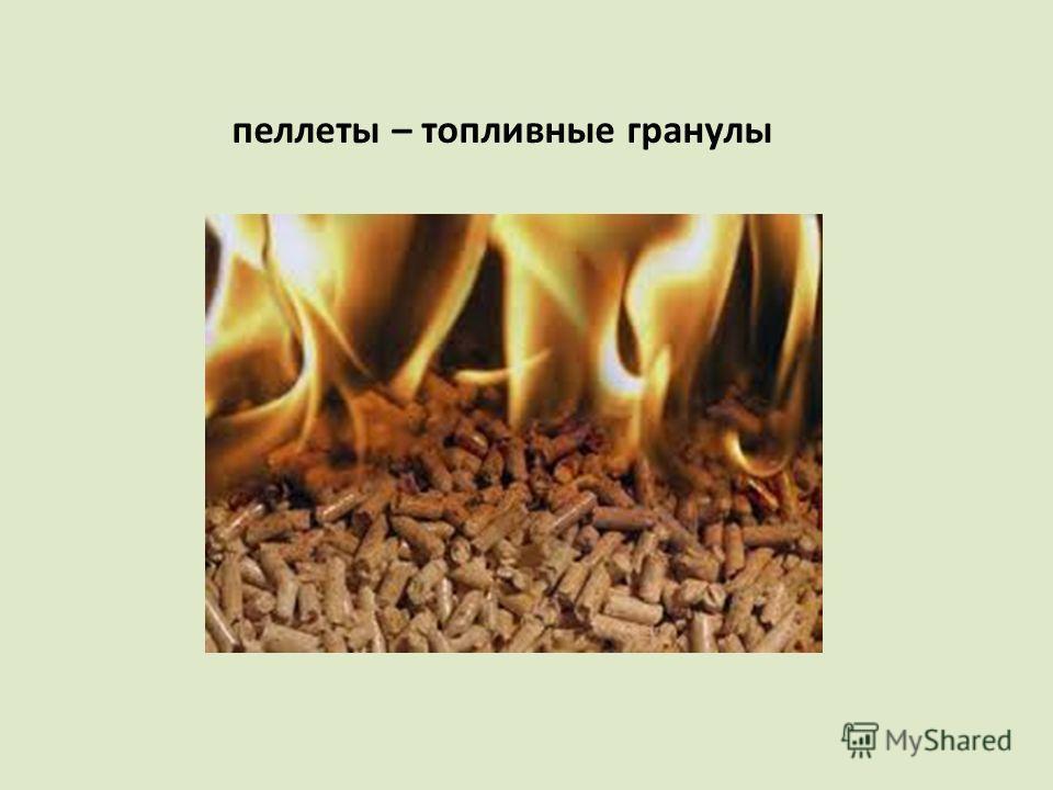пеллеты – топливные гранулы