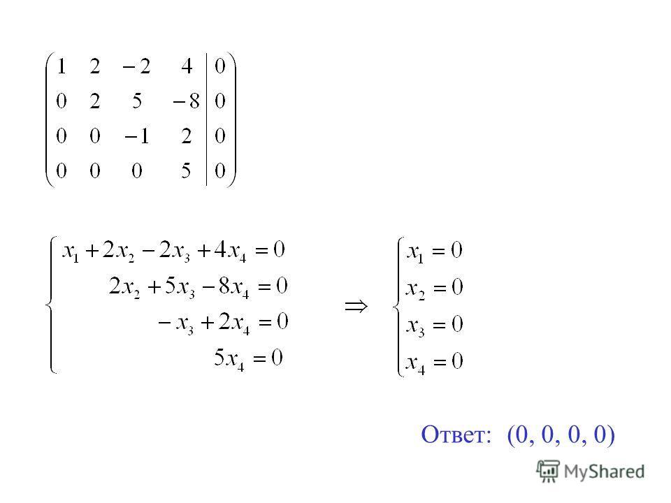 Ответ: (0, 0, 0, 0)