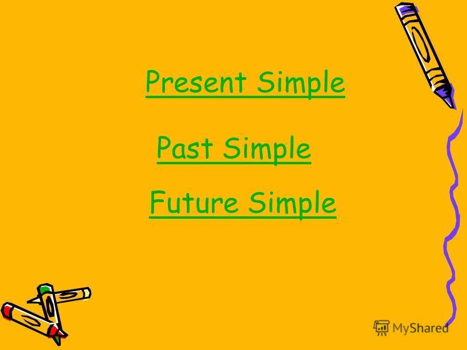 Present Simple Past Simple Future Simple