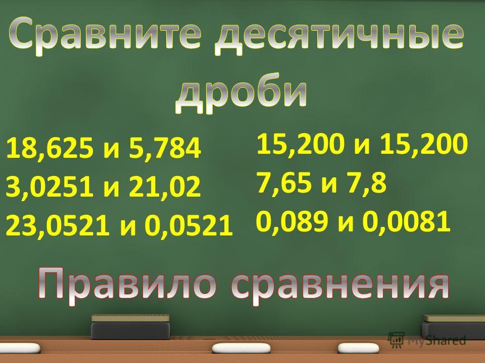 15,200 и 15,200 7,65 и 7,8 0,089 и 0,0081 18,625 и 5,784 3,0251 и 21,02 23,0521 и 0,0521