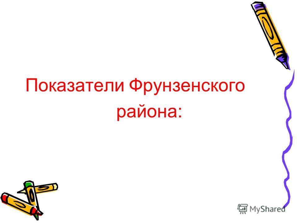 Показатели Фрунзенского района: