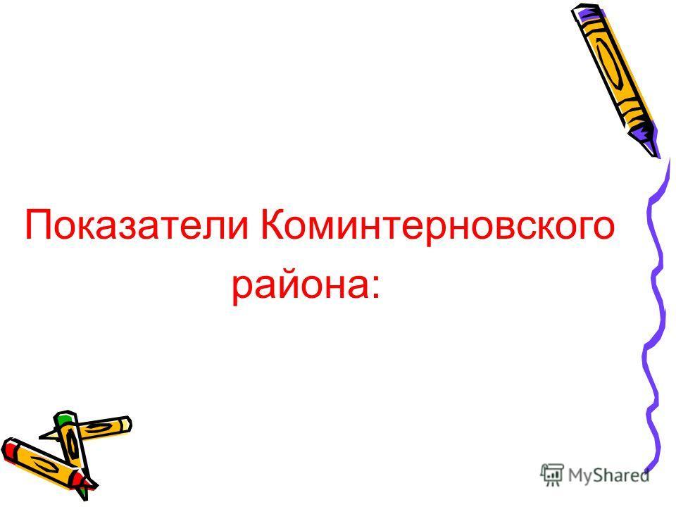 Показатели Коминтерновского района: