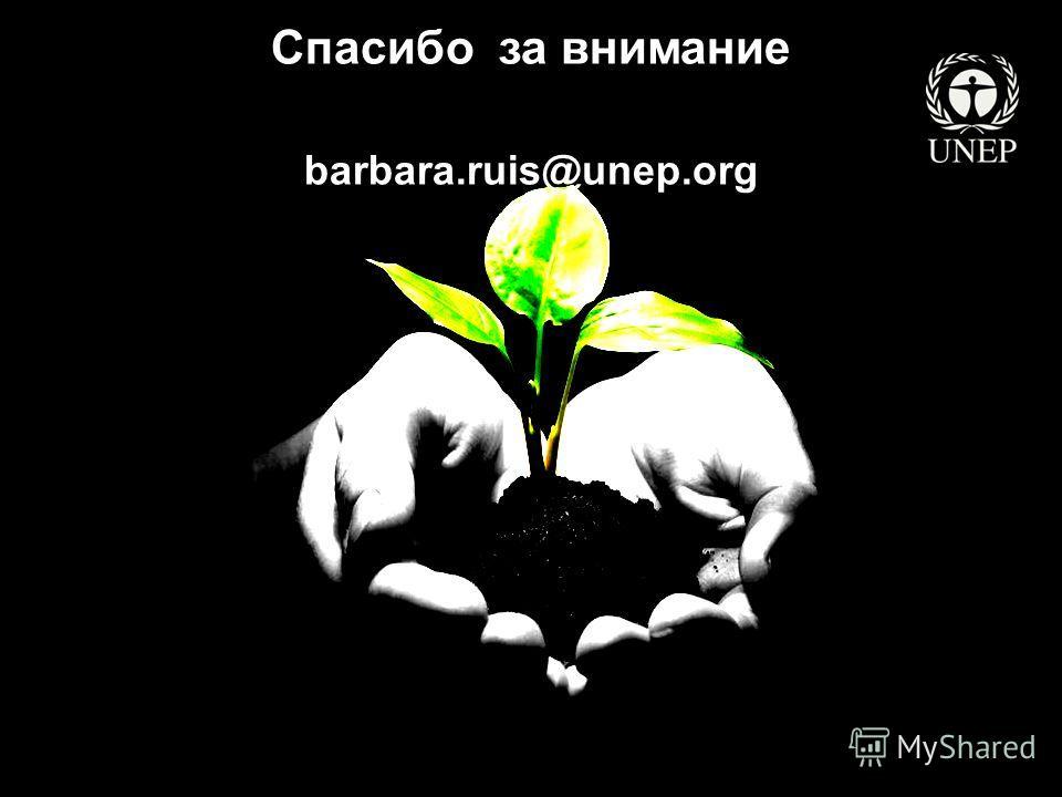 Спасибо за внимание barbara.ruis@unep.org