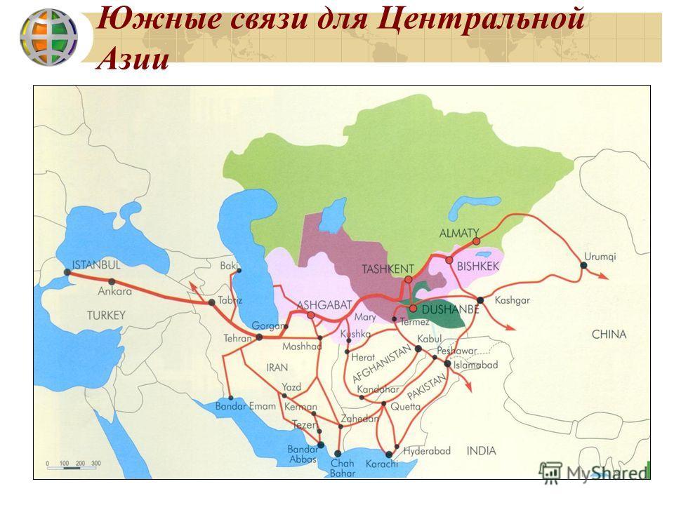 Южные связи для Центральной Азии