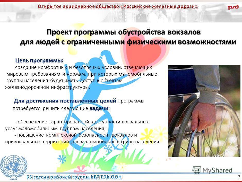 1 Работа проводится в рамках Стратегии развития железнодорожного транспорта РФ до 2030 года. Реализуются программы развития пассажирского комплекса дальнего следования и пригородного сообщения, а также программа развития железнодорожных вокзалов до 2
