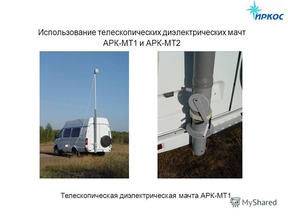 Использование телескопических диэлектрических мачт АРК-МТ1 и АРК-МТ2 Телескопическая диэлектрическая мачта АРК-МТ1