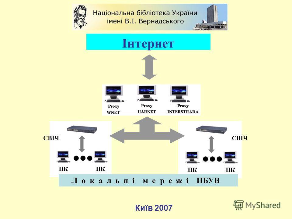 Інтернет Київ 2007 СВІЧ Л о к а л ь н і м е р е ж і НБУВ