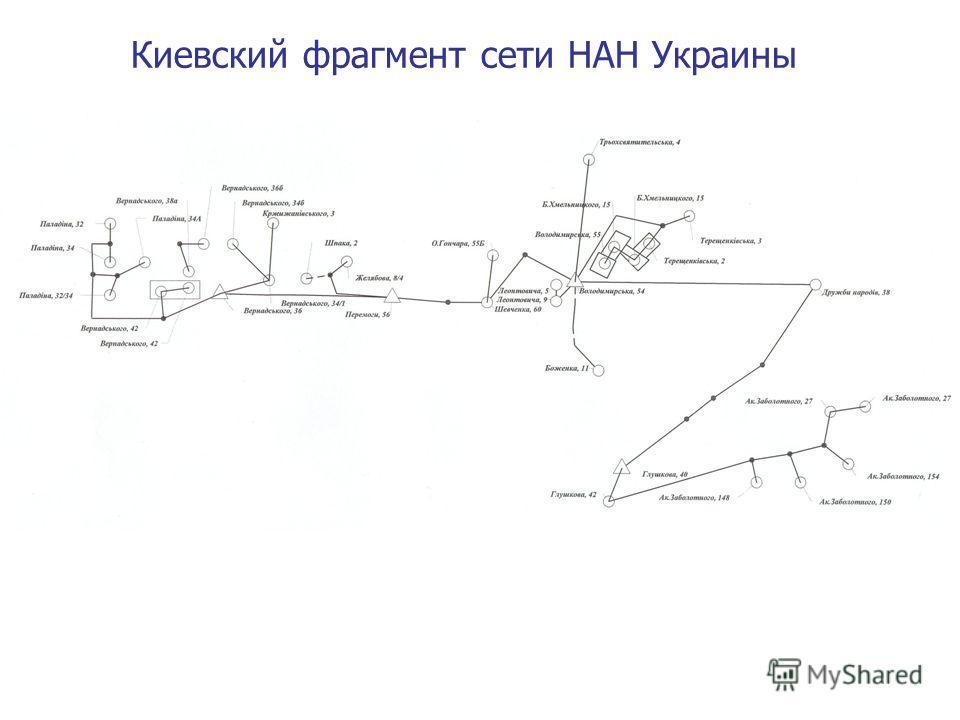 Киевский фрагмент сети НАН Украины
