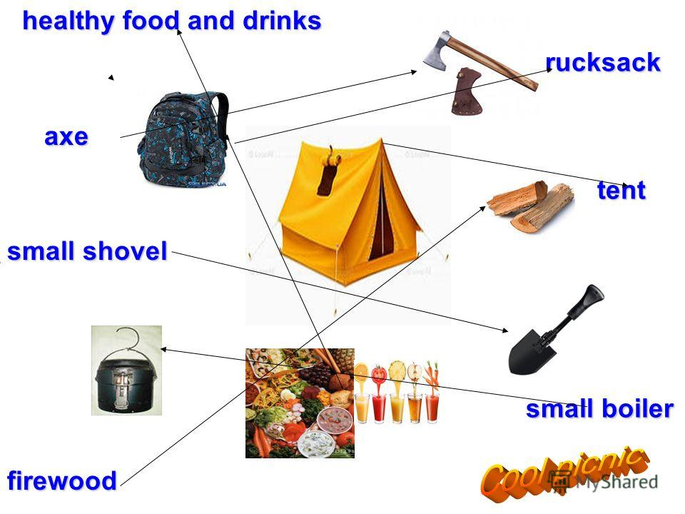 rucksack tent small boiler rucksack tent small boiler healthy food and drinks healthy food and drinks axe axe small shovel firewood