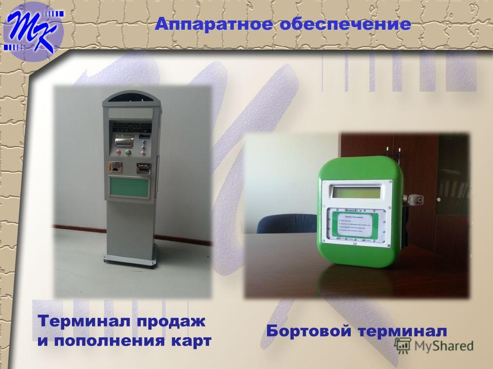Терминал продаж и пополнения карт Бортовой терминал Аппаратное обеспечение