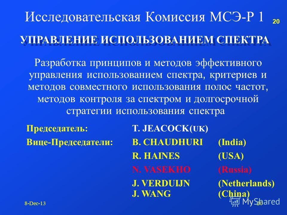 19 8-Dec-1319 Рекомендации МСЭ-Р
