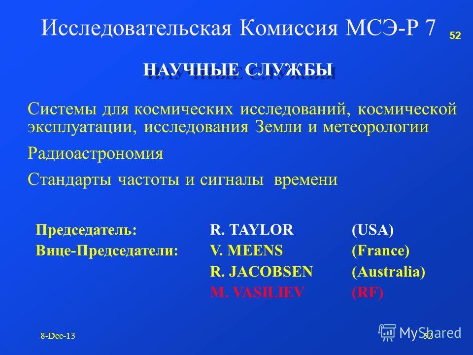 51 8-Dec-1351 Исследовательская Комиссия МСЭ-Р 6 6/9 (: ) Целевая Группа 6/9 (Председатель: J. Flaherty, CBS) Широкоформатное цифровое изображение